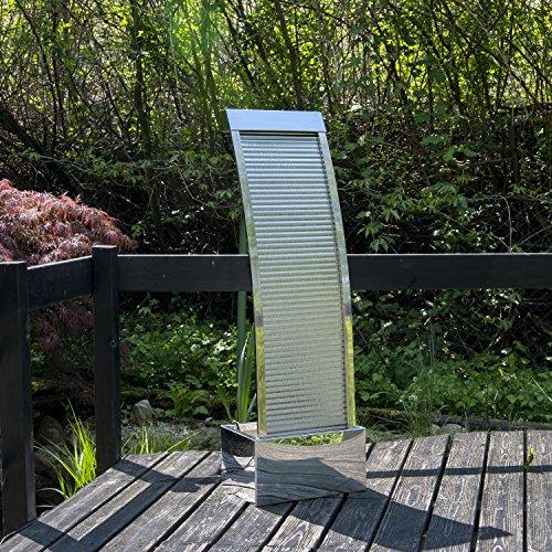 Wasserwand Wasserfall mit LED-Beleuchtung aus Edelstahl 110 cm Höhe