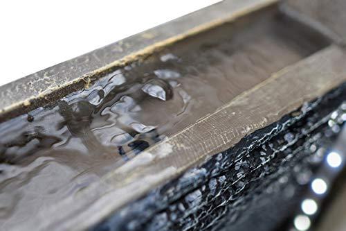 Köhko® Wassserwand Yin Yang mit LED-Beleuchtung mit Höhe von 120 cm Springbrunnen Wasserspiel aus Polyresin - 2