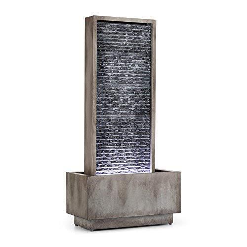 Wasserwandbrunnen Imperia mit LED-Beleuchtung aus verzinktem Metall 100 cm Höhe