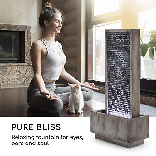 Wasserwandbrunnen Imperia mit LED-Beleuchtung aus verzinktem Metall 100 cm Höhe - 2