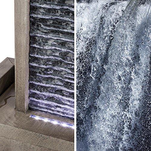 Wasserwandbrunnen Imperia mit LED-Beleuchtung aus verzinktem Metall 100 cm Höhe - 4