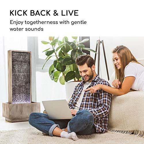 Wasserwandbrunnen Imperia mit LED-Beleuchtung aus verzinktem Metall 100 cm Höhe - 5