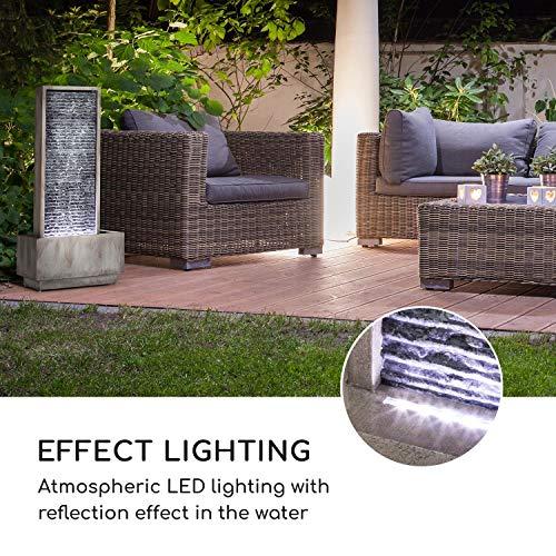 Wasserwandbrunnen Imperia mit LED-Beleuchtung aus verzinktem Metall 100 cm Höhe - 7