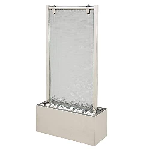 Beleuchtete Wasserwand aus Glas und Edelstahl 95 cm Höhe - 3