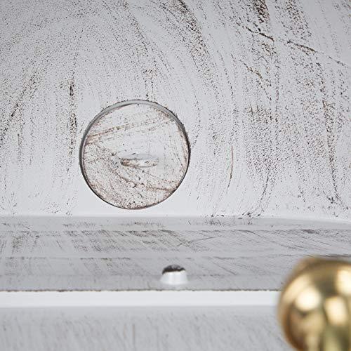 Relaxdays XL Wandbrunnen antik, mit Wasserhahn, nostalgisch, Waschbecken Garten, Aluguss, HBT 75 x 44 x 22 cm, weiß - 8