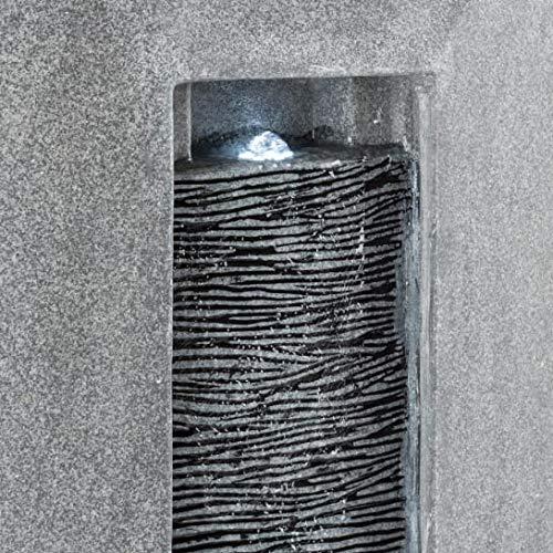 Wandbrunnen modern Niagara in Stein Optik mit LED-Beleuchtung 85 cm Höhe - 3