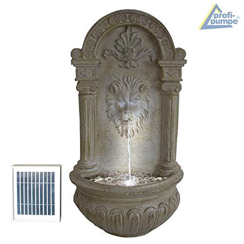 Wandbrunnen Löwenkopf mit Solarpanel und LED-Beleuchtung 75 cm Höhe - 5