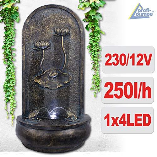 Wandbrunnen mit Vogelbad und LED-Beleuchtung 90 cm Höhe - 2