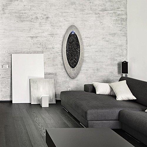 Moderner Wandbrunnen Gavarnie mit LED-Beleuchtung in Stein Optik 90 cm Höhe - 2