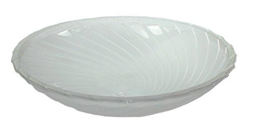 Zimmerbrunnen Schale aus Glas Ø 40 cm in der Farbe weiß mit Wellenmuster - 2