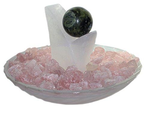 Zimmerbrunnen Schale aus Glas Ø 40 cm in der Farbe weiß mit Wellenmuster - 4