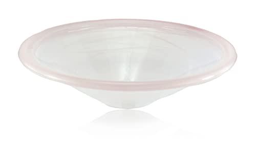 Runde Brunnenschale aus Glas Ø 29 cm in der Farbe braun mamoriert