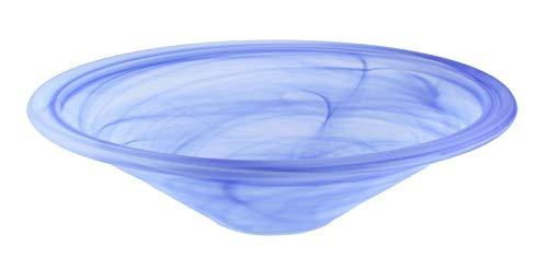 Runde Brunnenschale aus Alabaster Glas Ø 35 cm in der Farbe blau