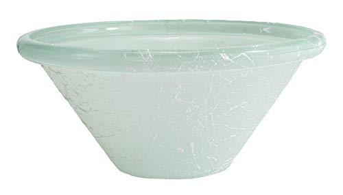Runde Brunnenschale aus Glas Ø 26 cm in der Farbe weiß