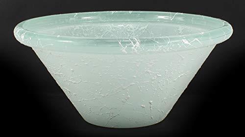 Runde Brunnenschale aus Glas Ø 26 cm in der Farbe weiß - 2