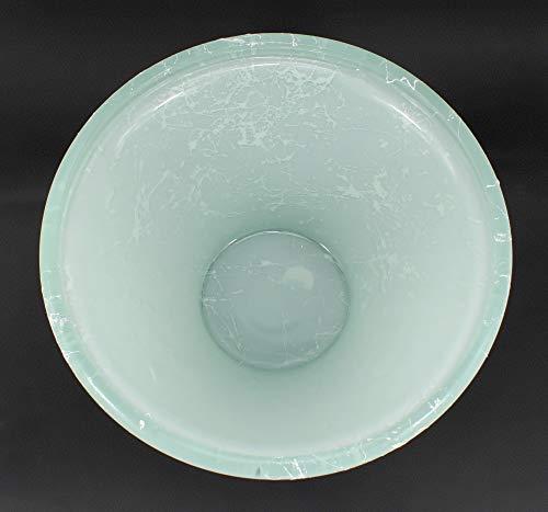 Runde Brunnenschale aus Glas Ø 26 cm in der Farbe weiß - 3