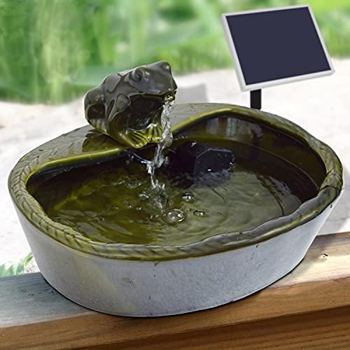 Kleiner Solarbrunnen Vogelbad