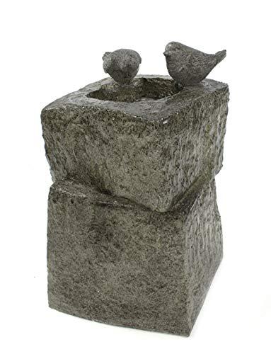 DARO DEKO Garten-Brunnen komplett Set mit Pumpe Vogel-Tränke 34cm x 34cm x 55cm - 3