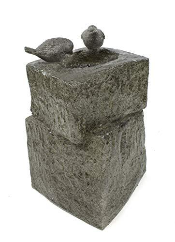 DARO DEKO Garten-Brunnen komplett Set mit Pumpe Vogel-Tränke 34cm x 34cm x 55cm - 5