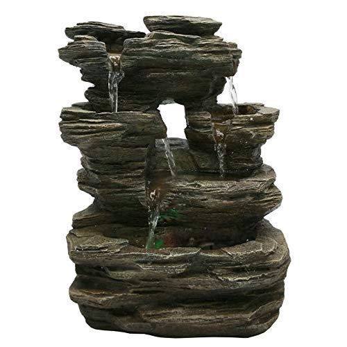 Zen'Light Pietra SCFR130Brunnen, Stein, Naturgrau, Maße: 25x 17x 35cm - 3