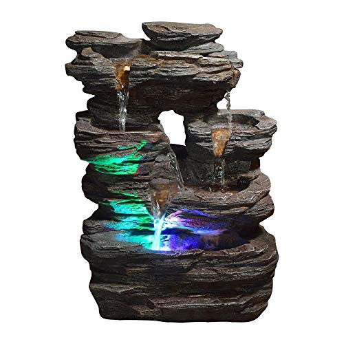 Zen'Light Pietra SCFR130Brunnen, Stein, Naturgrau, Maße: 25x 17x 35cm - 4
