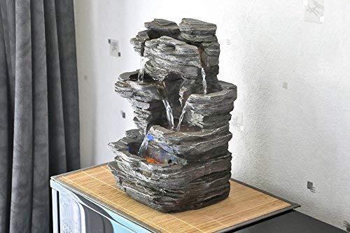 Zen'Light Pietra SCFR130Brunnen, Stein, Naturgrau, Maße: 25x 17x 35cm - 5