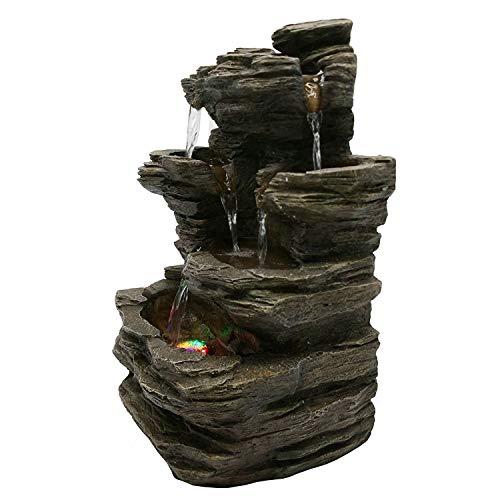 Zen'Light Pietra SCFR130Brunnen, Stein, Naturgrau, Maße: 25x 17x 35cm - 6