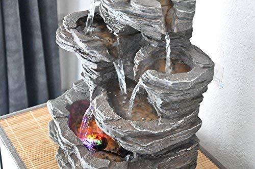 Zen'Light Pietra SCFR130Brunnen, Stein, Naturgrau, Maße: 25x 17x 35cm - 7