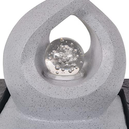 vidaXL Zimmerbrunnen mit LED Polyresin Dekobrunnen Springbrunnen Wasserspiel - 4
