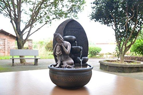 Buddha Brunnen Grace mit LED-Beleuchtung