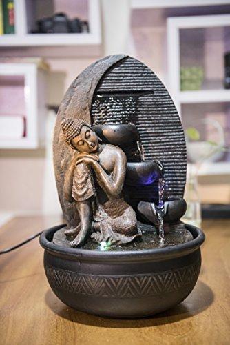 Zen'Light Brunnen Buddha Grace, Harz, Bronze, 26 x 26 x 40 cm - 2