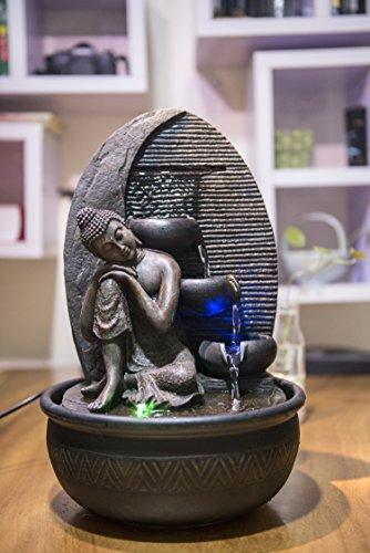 Zen'Light Brunnen Buddha Grace, Harz, Bronze, 26 x 26 x 40 cm - 4
