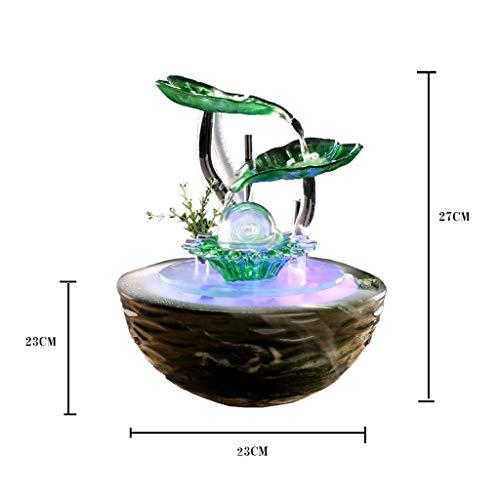 Küche Haushalt Wohnen Zimmerbrunnen Moderne Brunnen Einfache Desktop Innenluftbefeuchter Büro Keramik Feng Shui Ball Dekoration Eingerichtet 23 * 23 * 27 cm (Color : A) - 2
