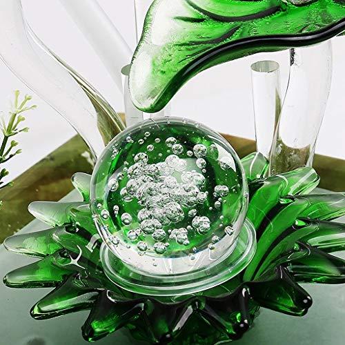 Küche Haushalt Wohnen Zimmerbrunnen Moderne Brunnen Einfache Desktop Innenluftbefeuchter Büro Keramik Feng Shui Ball Dekoration Eingerichtet 23 * 23 * 27 cm (Color : A) - 4