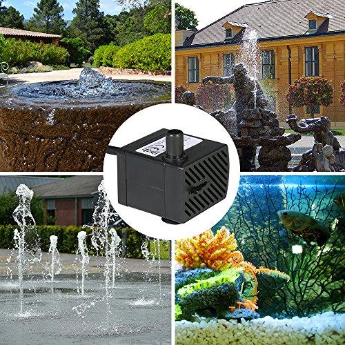 Decdeal Wasserpumpe Aquarium Pumpe Tauchpumpe für Brunnen Aquarium 2W / 2.5W / 4W Optional - 4
