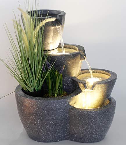 Bepflanzbarer Zimmerbrunnen Botana mit Beleuchtung in Steinoptik