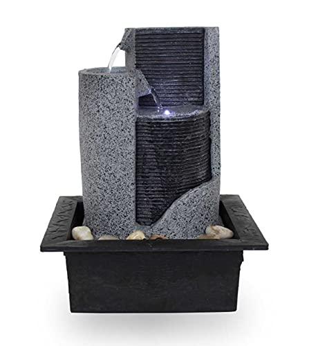 "Moderner Zimmerbrunnen ""FoParete"" mit LED-Beleuchtung"