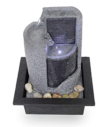 Kiom Zimmerbrunnen Tischbrunnen Dekobrunnen FoParete 27,5 cm LED 10909 - 3