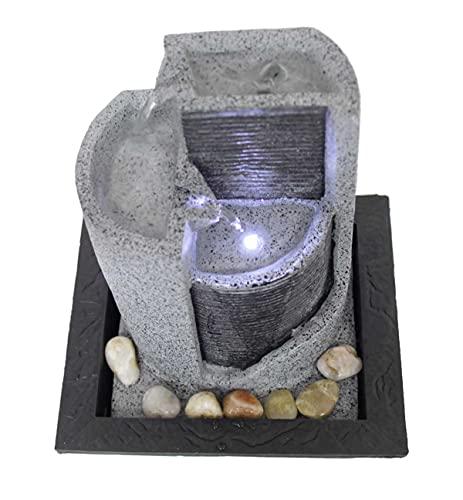 Kiom Zimmerbrunnen Tischbrunnen Dekobrunnen FoParete 27,5 cm LED 10909 - 4
