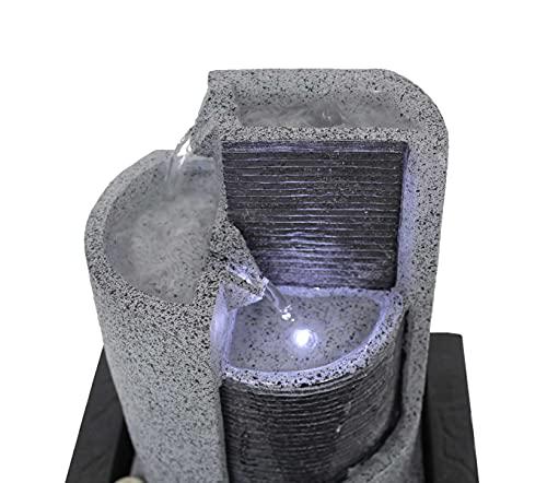 Kiom Zimmerbrunnen Tischbrunnen Dekobrunnen FoParete 27,5 cm LED 10909 - 5