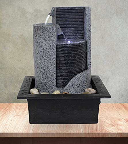 Kiom Zimmerbrunnen Tischbrunnen Dekobrunnen FoParete 27,5 cm LED 10909 - 6