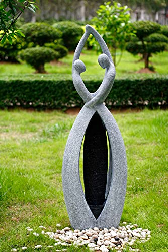 Kiom Gartenbrunnen Springbrunnen Brunnen FoCoppia Außen + Innen 145cm 10208 - 2
