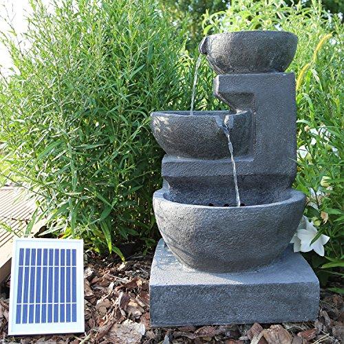 CLGarden Solar Springbrunnen NSP12 mit Akku und LED Beleuchtung für Garten Terrasse Balkon - 3