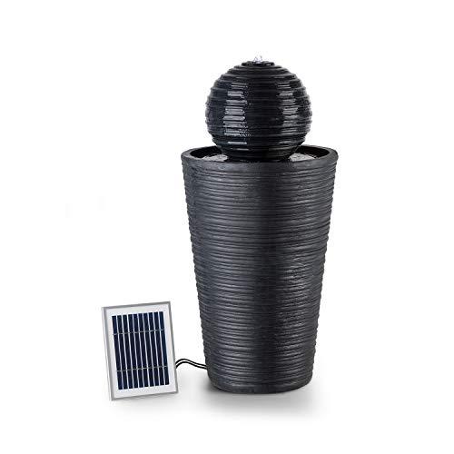 """Gartenbrunnen Solar """"Liquitorre"""" mit Kugel, Akku und LED-Beleuchtung in Steinoptik"""