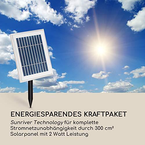 blumfeldt Liquitorre Gartenbrunnen - Wasserspiel, Solarbrunnen, Pumpe: 200 l/h / IPX8, Solarpanel: 2 W 300 cm² Photovoltaikoberfläche, Akku bis 8 h Betriebszeit / 3,7 V / 2 Ah, Polyresin - 7