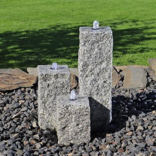 CLGarden Granit Springbrunnen SB2 3 teiliger Säulenbrunnen Steinbrunnen Wasserspiel Gartenbrunnen - 3