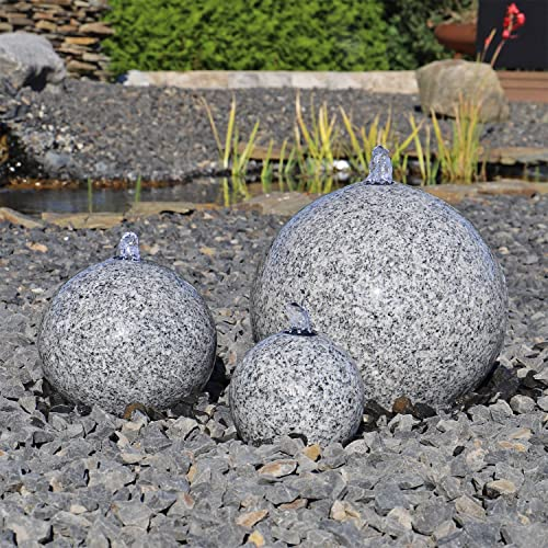 CLGarden Granit Springbrunnen SB1 3 teiliger Kugel Brunen Granitbrunnen Komplett Set Garten Wasserspiel - 3