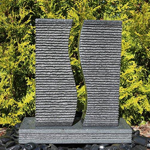 CLGarden Granit Springbrunnen SB5 2 Säulen Brunnen komplettes Set - 5