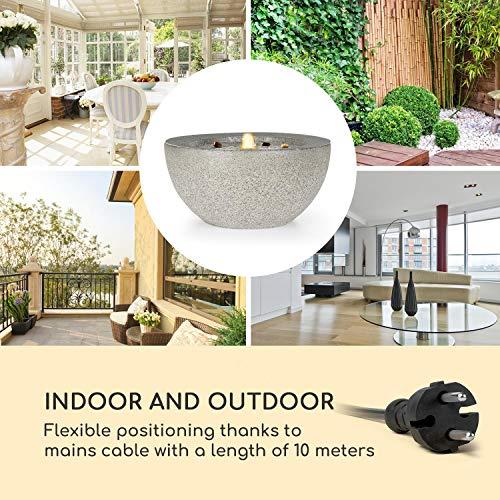 blumfeldt Genesis Gartenbrunnen - LED-Beleuchtung, für drinnen und draußen, 7W, Polyresin, UV- und frostbeständig, Loopflow Concept, 10 m Kabellänge, automatische Luftbefeuchtung, anthrazit - 5