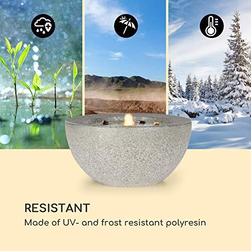 blumfeldt Genesis Gartenbrunnen - LED-Beleuchtung, für drinnen und draußen, 7W, Polyresin, UV- und frostbeständig, Loopflow Concept, 10 m Kabellänge, automatische Luftbefeuchtung, anthrazit - 8